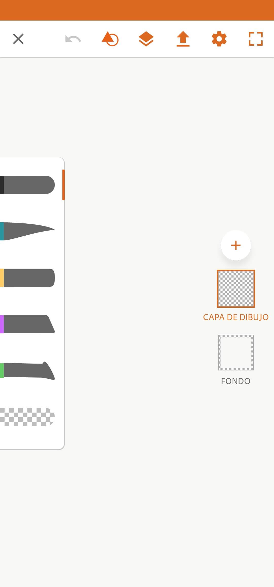 menu capes - adobe draw